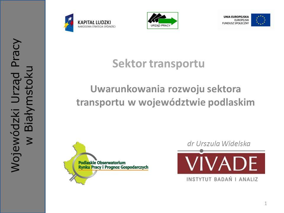 Uwarunkowania rozwoju sektora transportu w województwie podlaskim