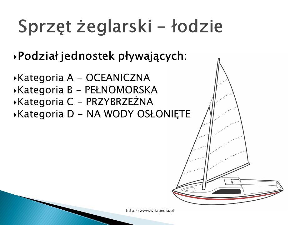 Sprzęt żeglarski - łodzie