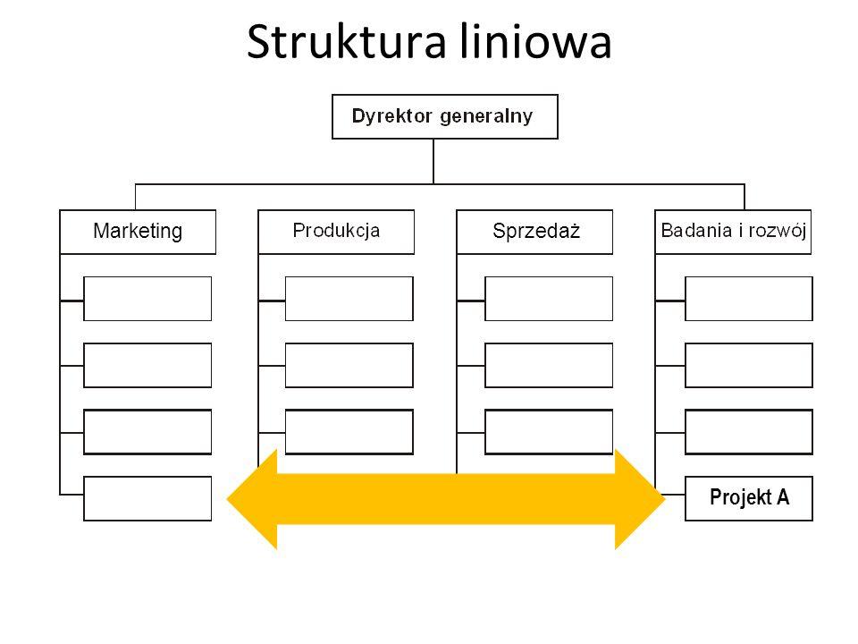 Struktura liniowa Marketing Sprzedaż Projekt A