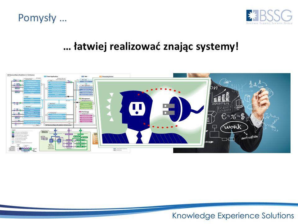 Pomysły … … łatwiej realizować znając systemy!