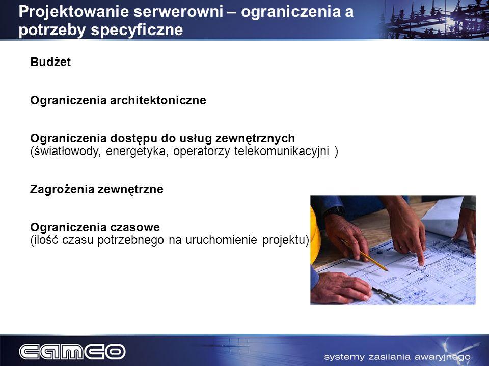 Projektowanie serwerowni – ograniczenia a potrzeby specyficzne
