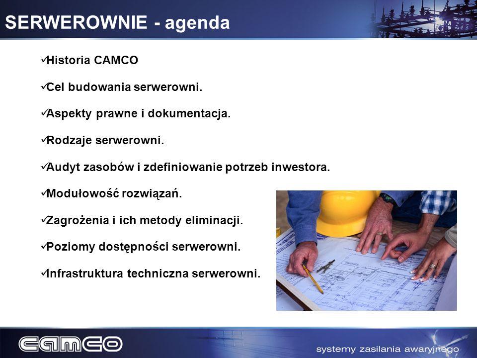 SERWEROWNIE - agenda Historia CAMCO Cel budowania serwerowni.