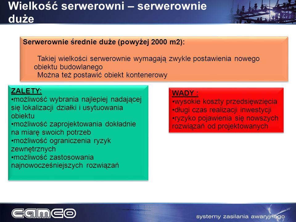 Wielkość serwerowni – serwerownie duże