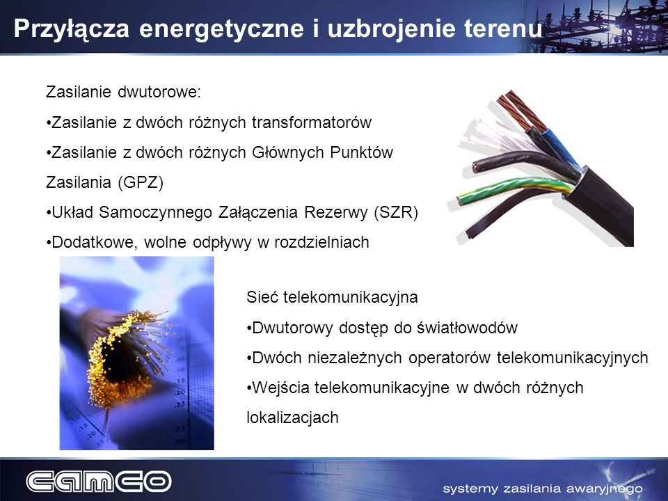 Przyłącza energetyczne i uzbrojenie terenu