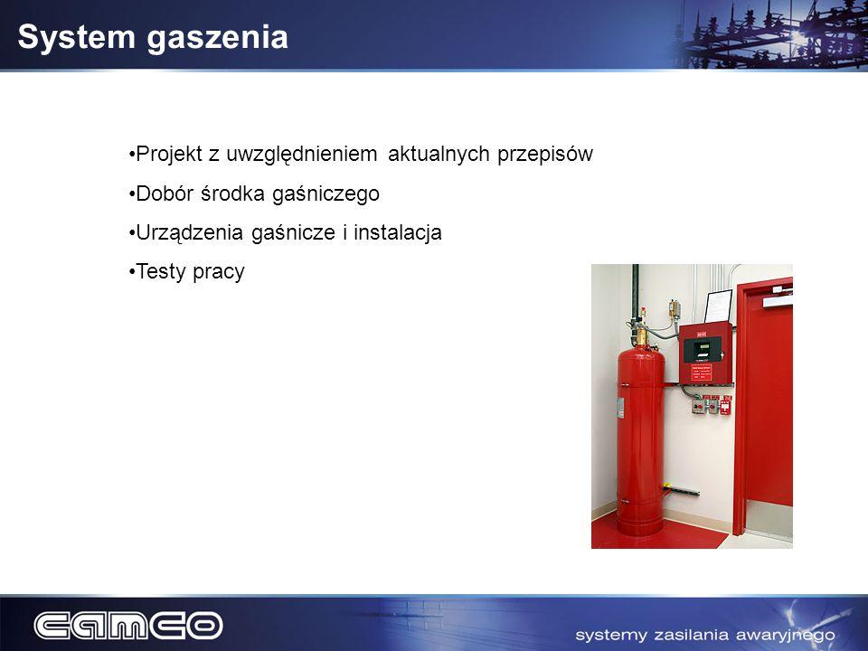 System gaszenia Projekt z uwzględnieniem aktualnych przepisów