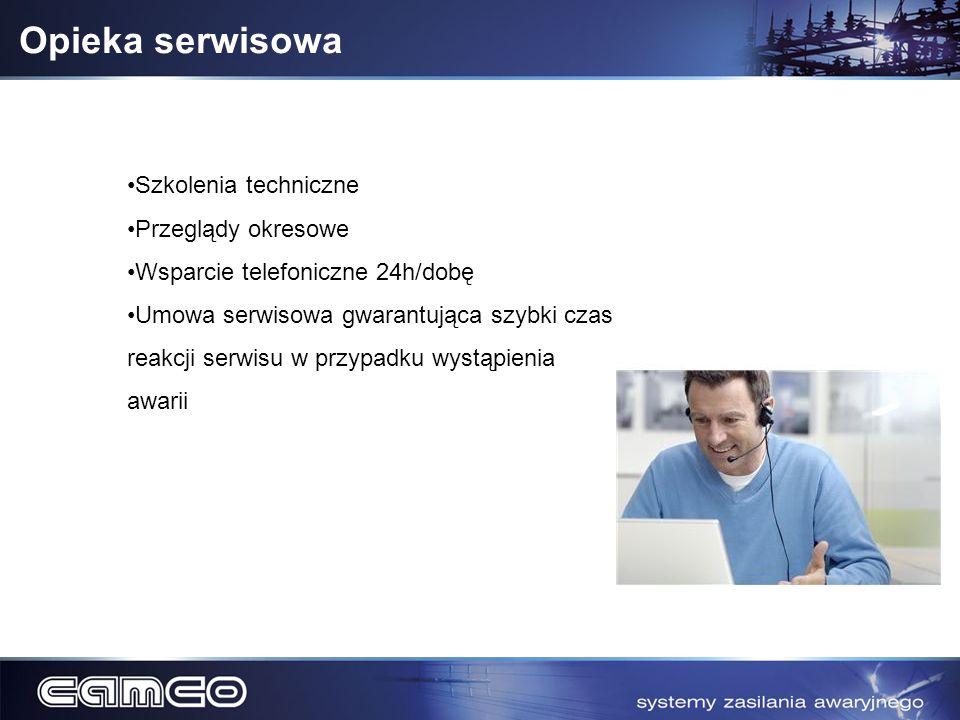 Opieka serwisowa Szkolenia techniczne Przeglądy okresowe
