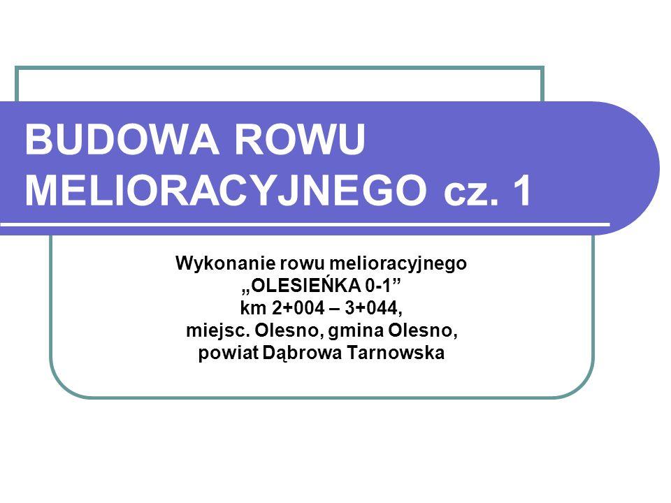 BUDOWA ROWU MELIORACYJNEGO cz. 1