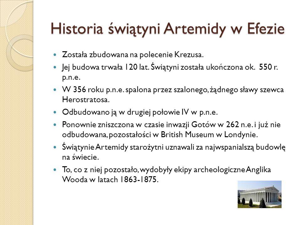 Historia świątyni Artemidy w Efezie