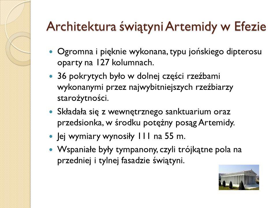 Architektura świątyni Artemidy w Efezie