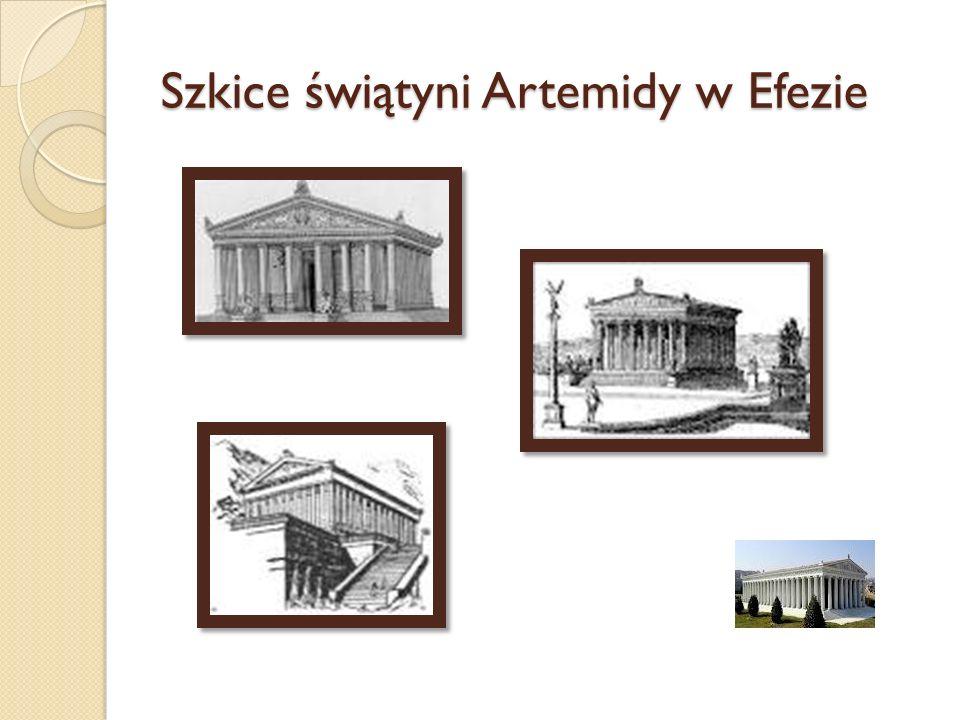 Szkice świątyni Artemidy w Efezie