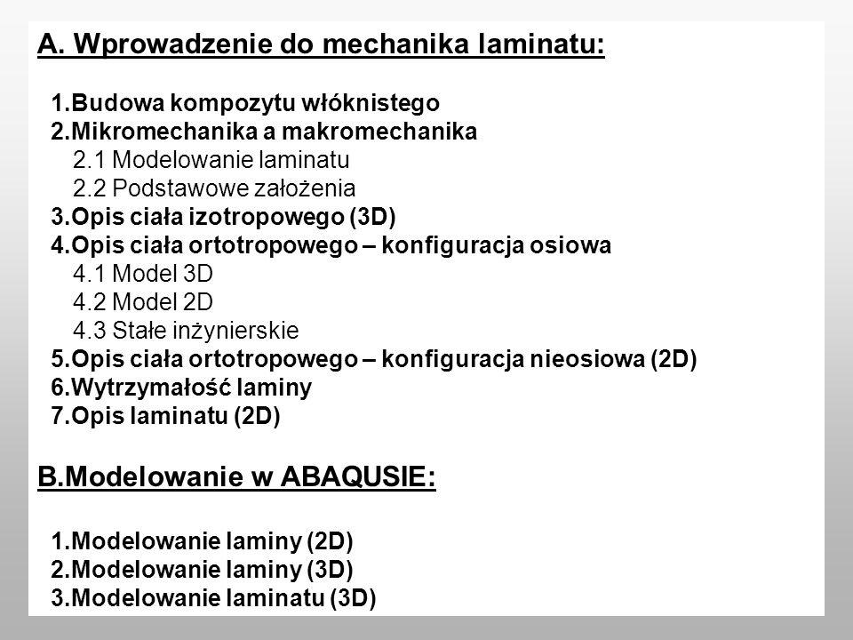 A. Wprowadzenie do mechanika laminatu: