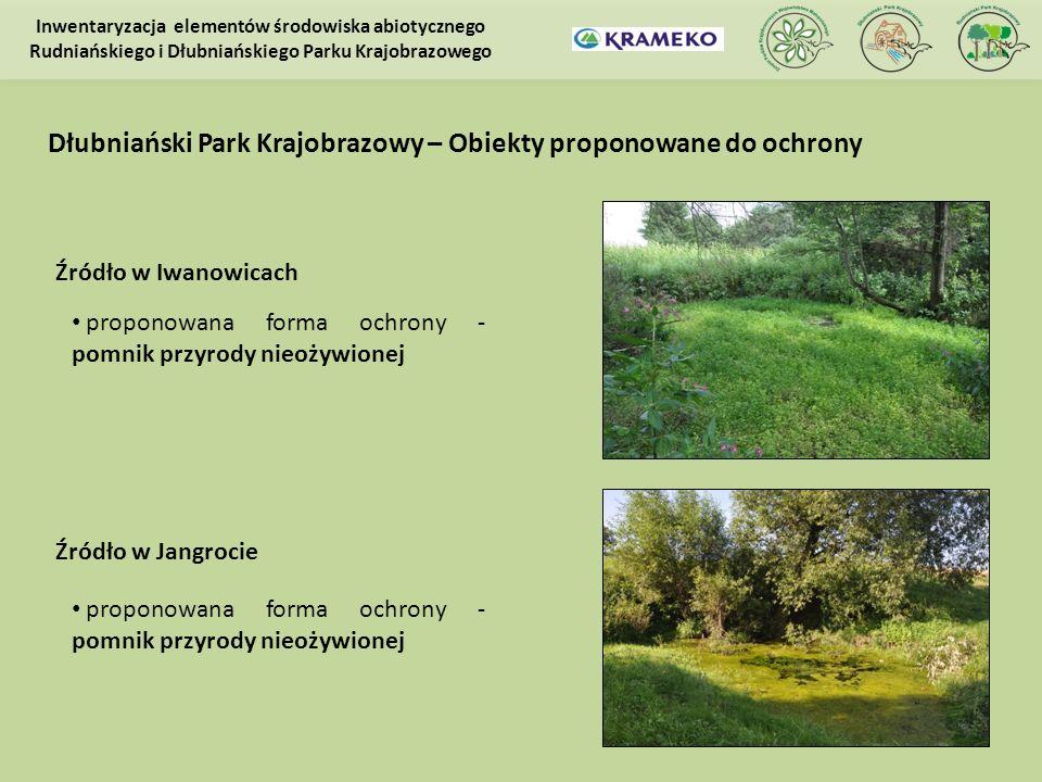 Dłubniański Park Krajobrazowy – Obiekty proponowane do ochrony