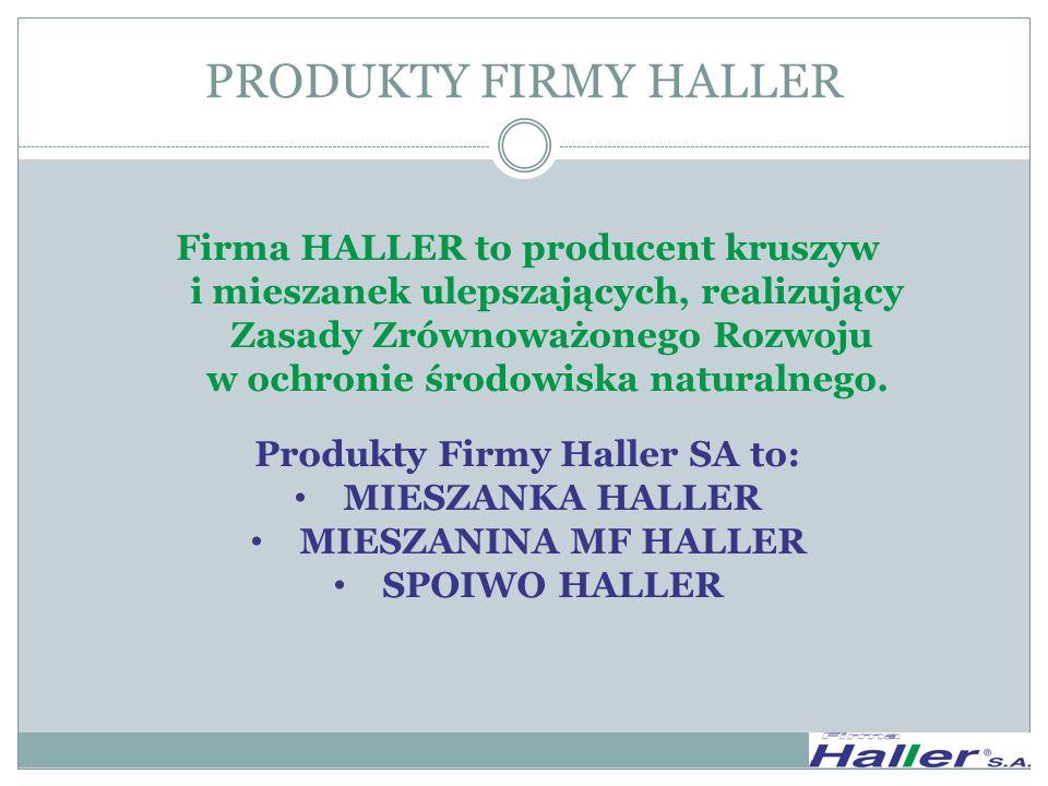 Produkty Firmy Haller SA to: