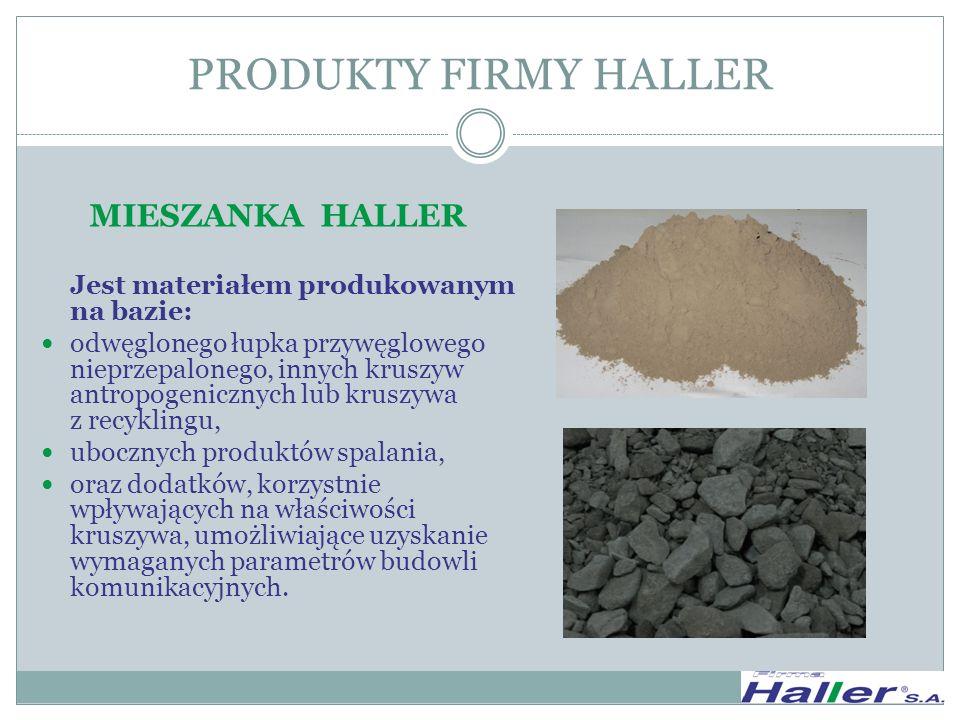 PRODUKTY FIRMY HALLER MIESZANKA HALLER