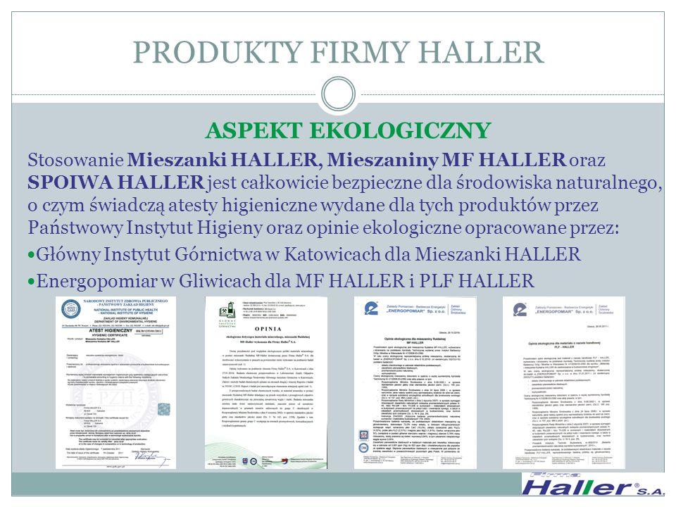 PRODUKTY FIRMY HALLER ASPEKT EKOLOGICZNY
