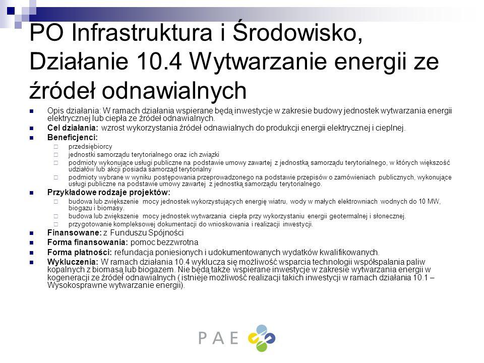 PO Infrastruktura i Środowisko, Działanie 10