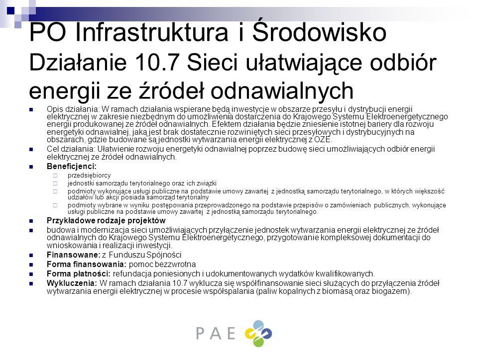 PO Infrastruktura i Środowisko Działanie 10