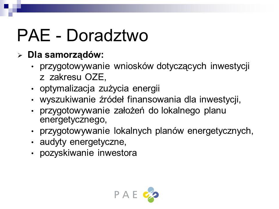 PAE - Doradztwo Dla samorządów: