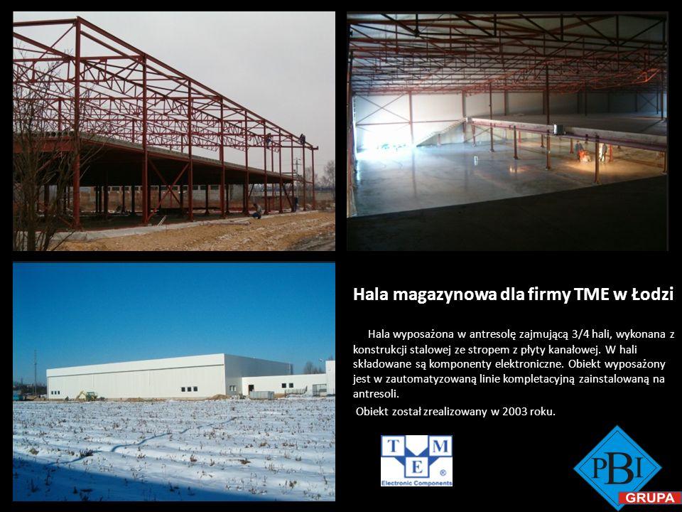 Hala magazynowa dla firmy TME w Łodzi