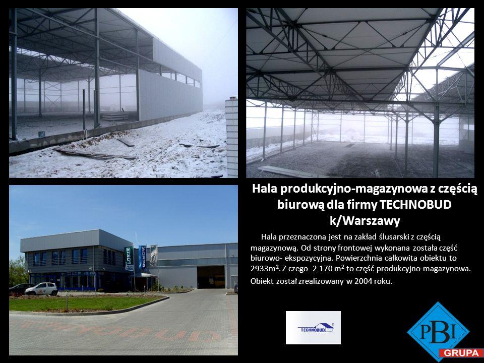 Hala produkcyjno-magazynowa z częścią biurową dla firmy TECHNOBUD k/Warszawy