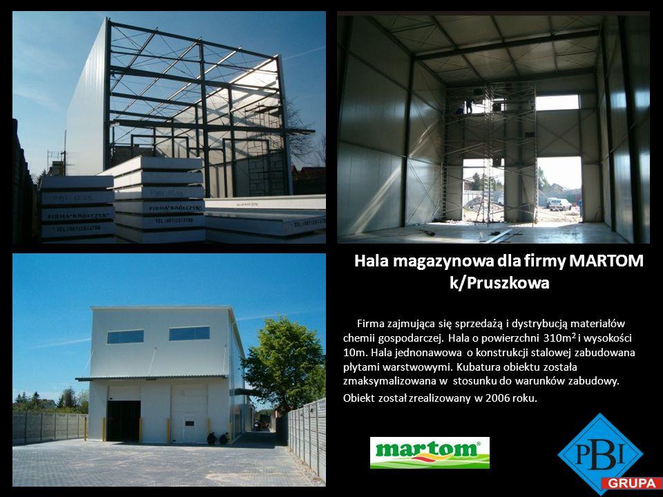 Hala magazynowa dla firmy MARTOM k/Pruszkowa