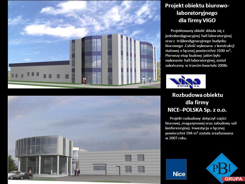Projekt obiektu biurowo-laboratoryjnego dla firmy VIGO