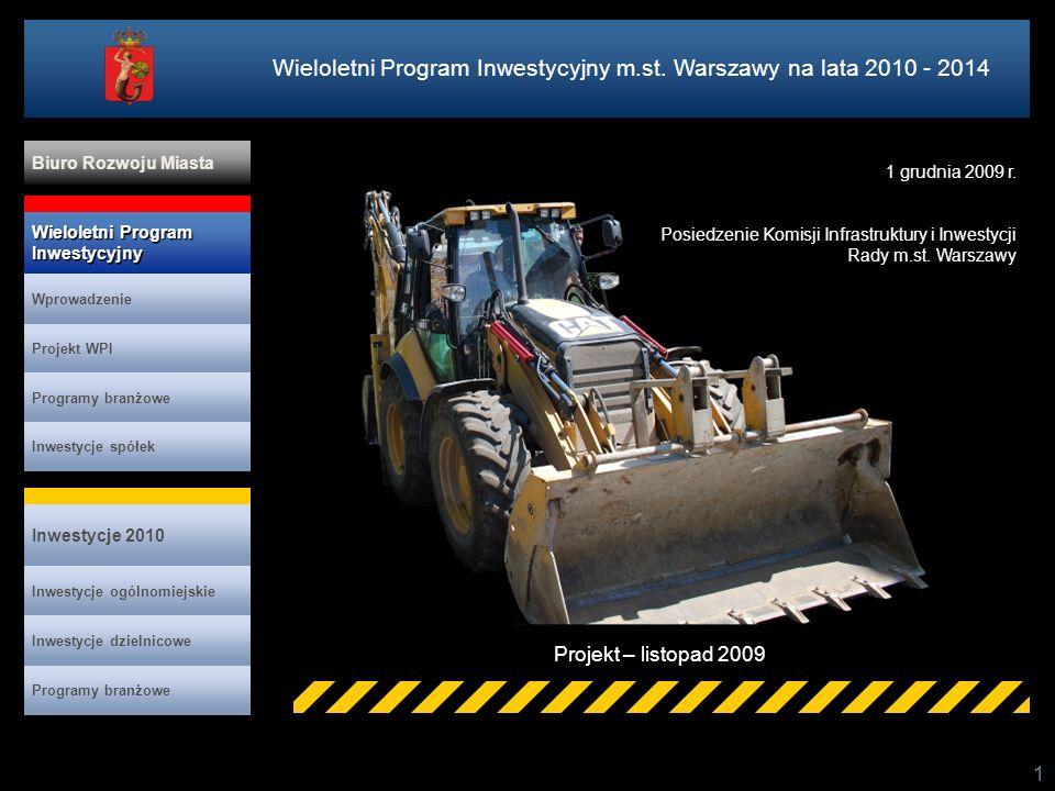Wieloletni Program Inwestycyjny m.st. Warszawy na lata 2010 - 2014