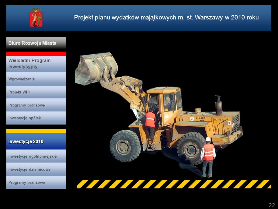 Projekt planu wydatków majątkowych m. st. Warszawy w 2010 roku