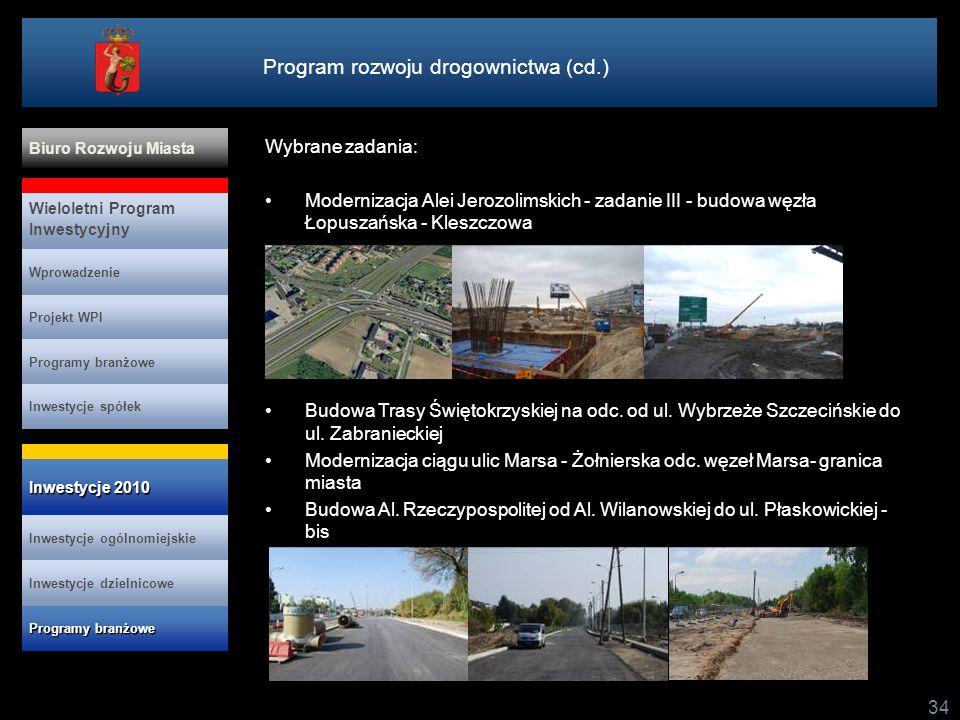 Program rozwoju drogownictwa (cd.)