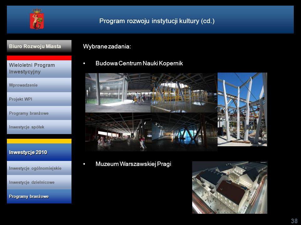 Program rozwoju instytucji kultury (cd.)