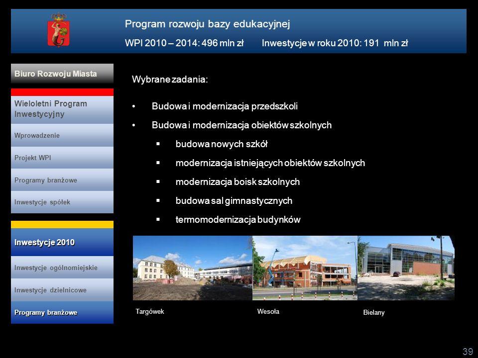 Program rozwoju bazy edukacyjnej