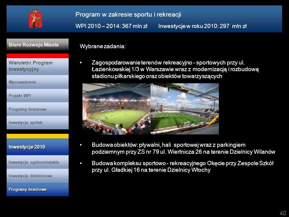 Program w zakresie sportu i rekreacji
