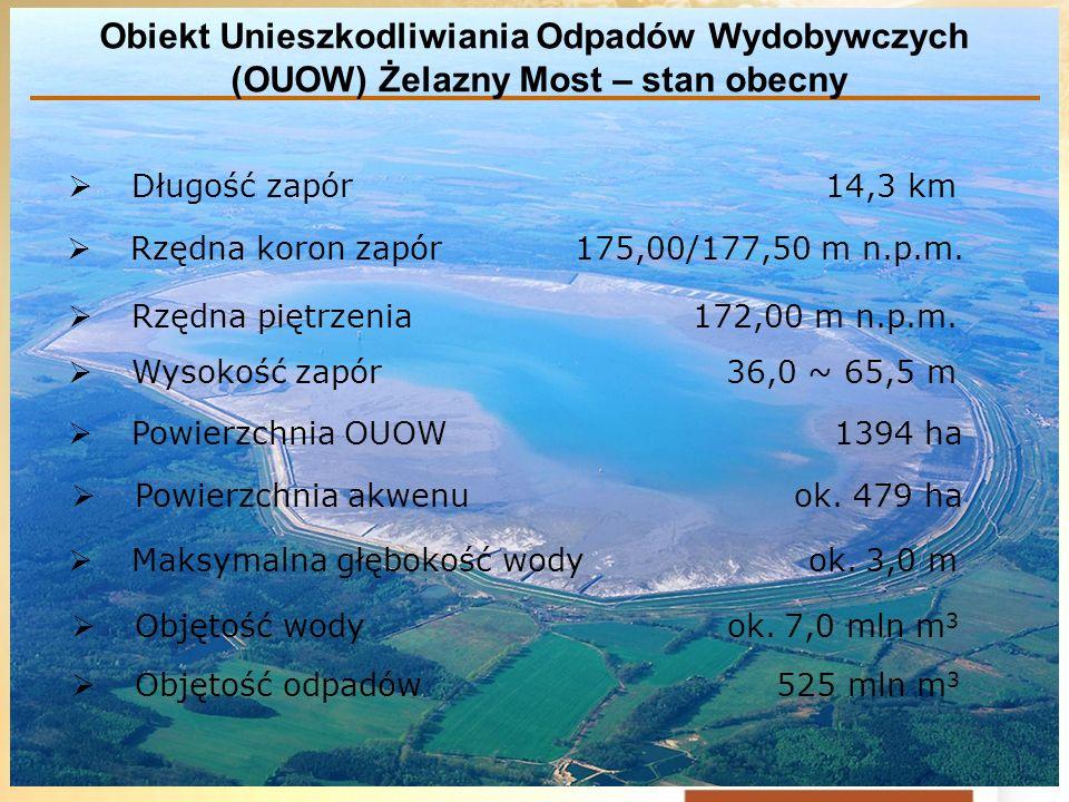 Obiekt Unieszkodliwiania Odpadów Wydobywczych (OUOW) Żelazny Most – stan obecny