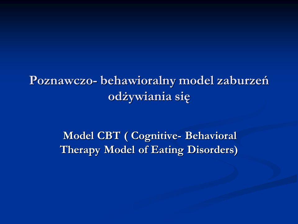 Poznawczo- behawioralny model zaburzeń odżywiania się
