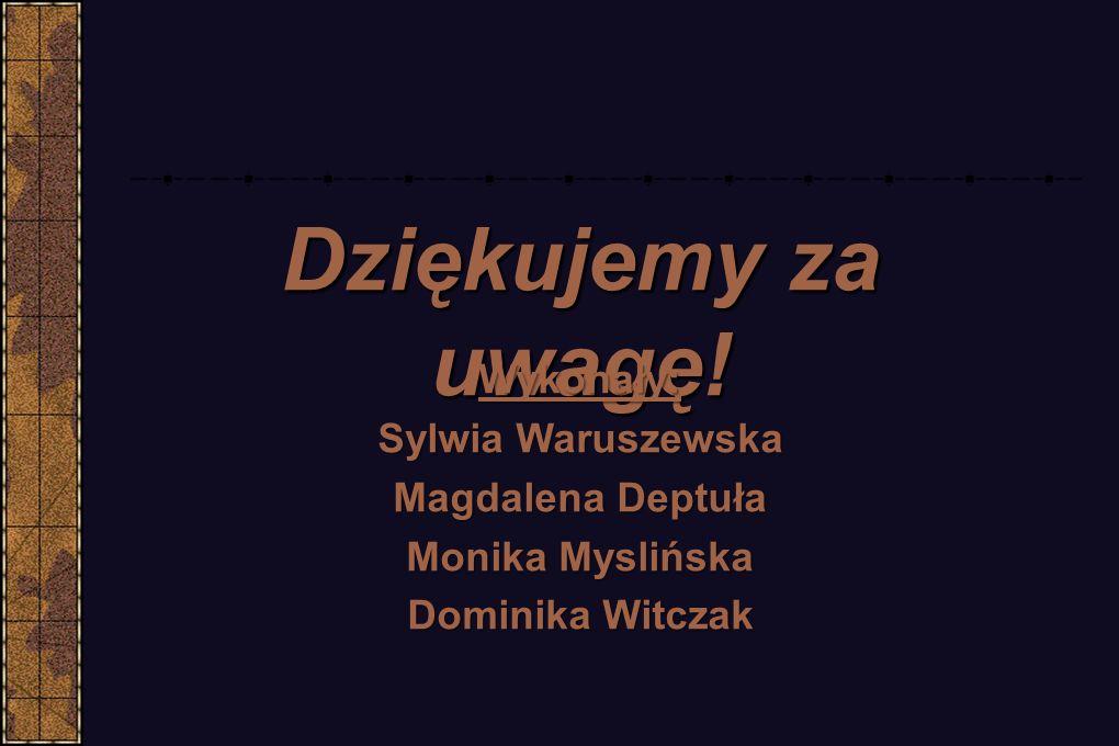 Dziękujemy za uwagę! Wykonały: Sylwia Waruszewska Magdalena Deptuła