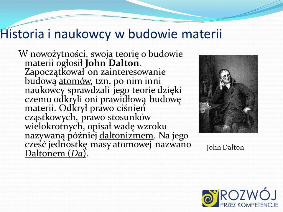 Historia i naukowcy w budowie materii