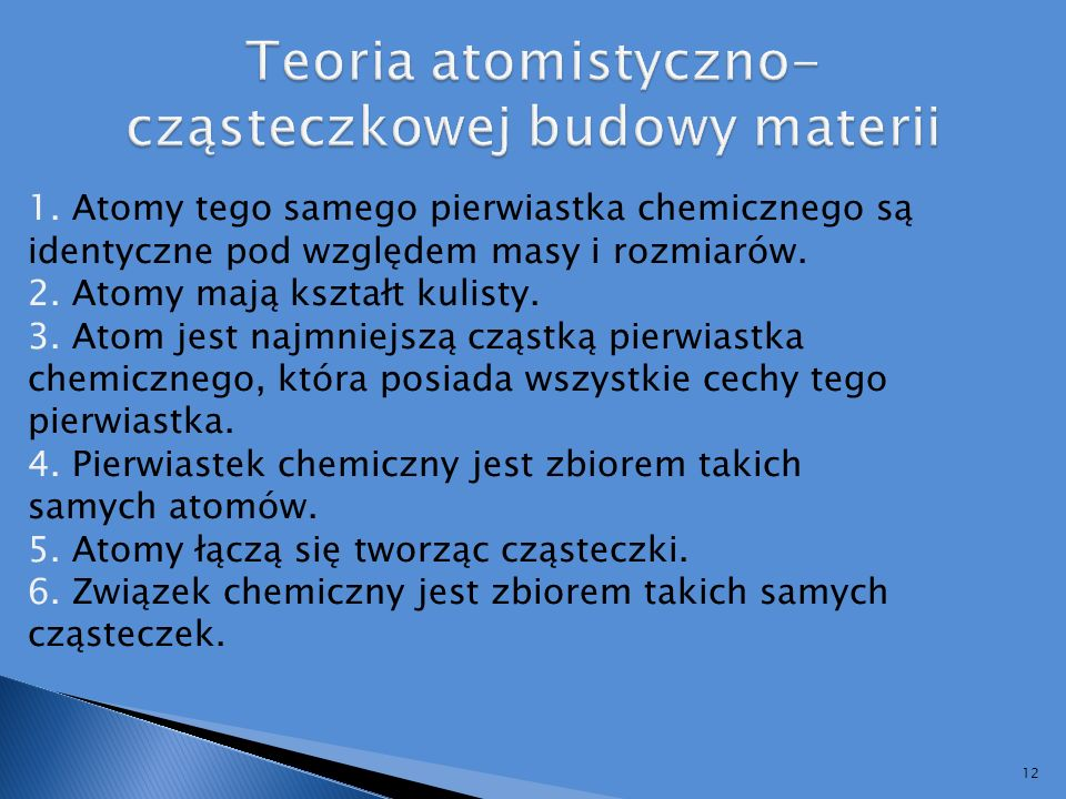 Teoria atomistyczno-cząsteczkowej budowy materii