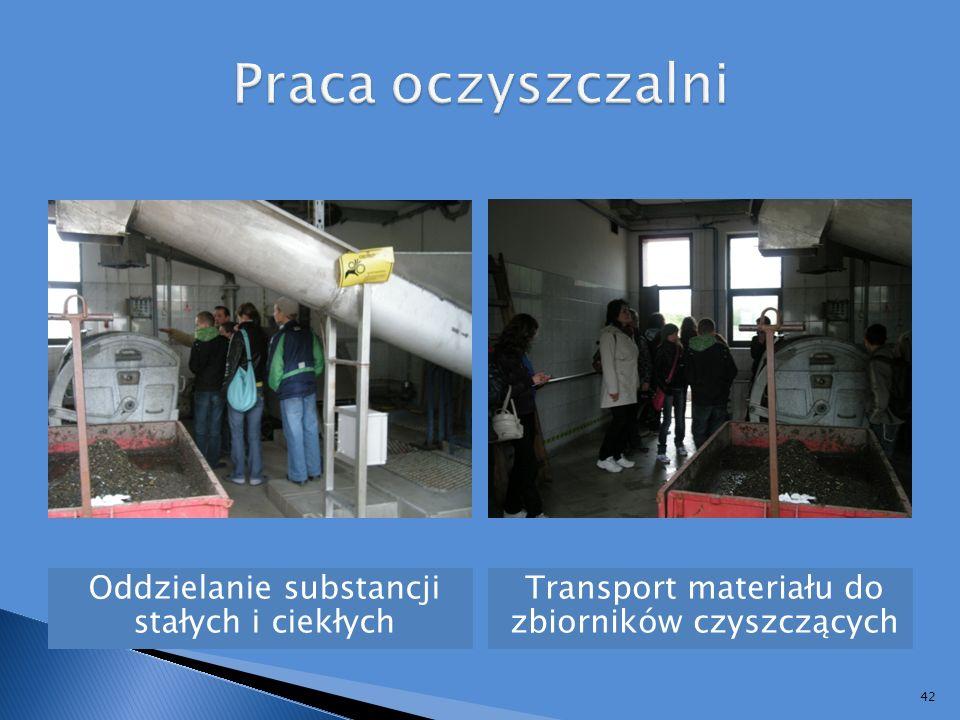 Praca oczyszczalni Oddzielanie substancji stałych i ciekłych