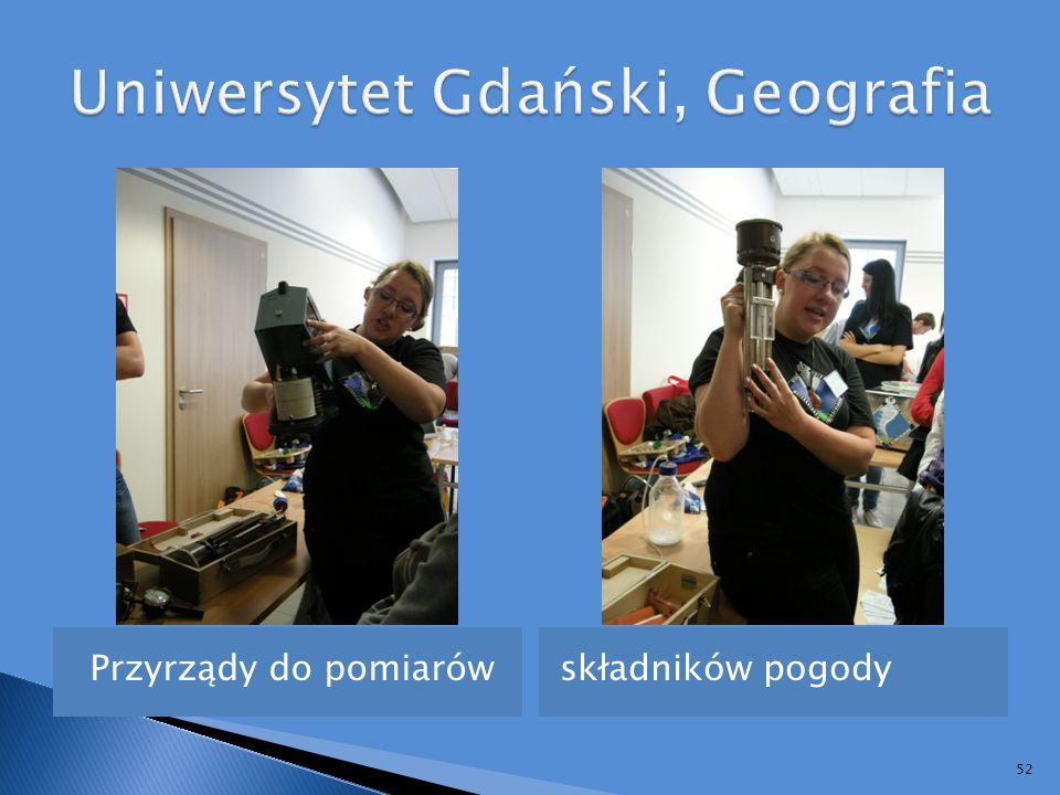 Uniwersytet Gdański, Geografia