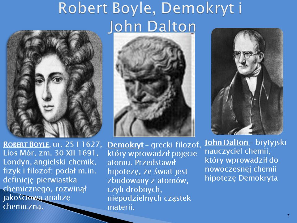 Robert Boyle, Demokryt i John Dalton