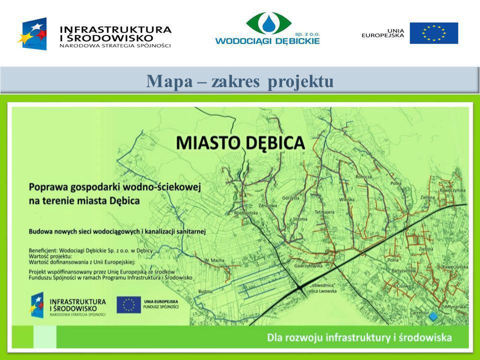 Mapa – zakres projektu