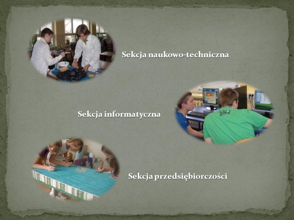 Sekcja naukowo-techniczna Sekcja przedsiębiorczości