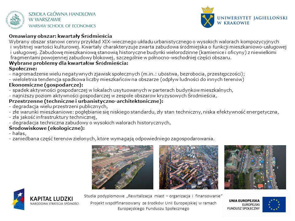 Omawiany obszar: kwartały Śródmieścia