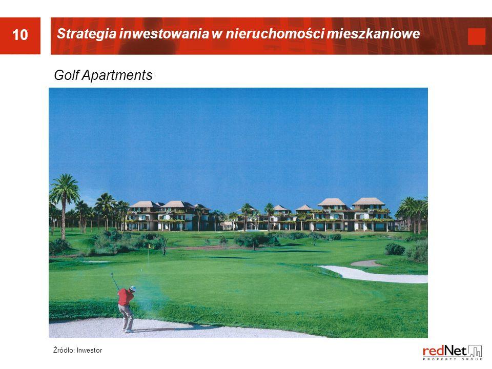 10 Strategia inwestowania w nieruchomości mieszkaniowe Golf Apartments
