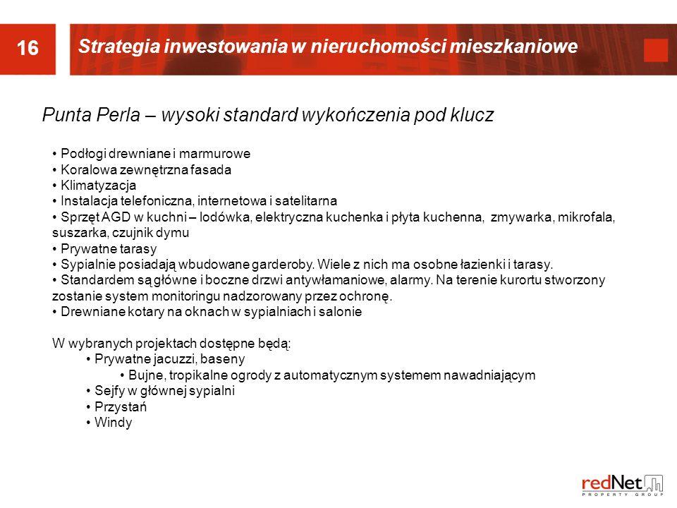 16 Strategia inwestowania w nieruchomości mieszkaniowe