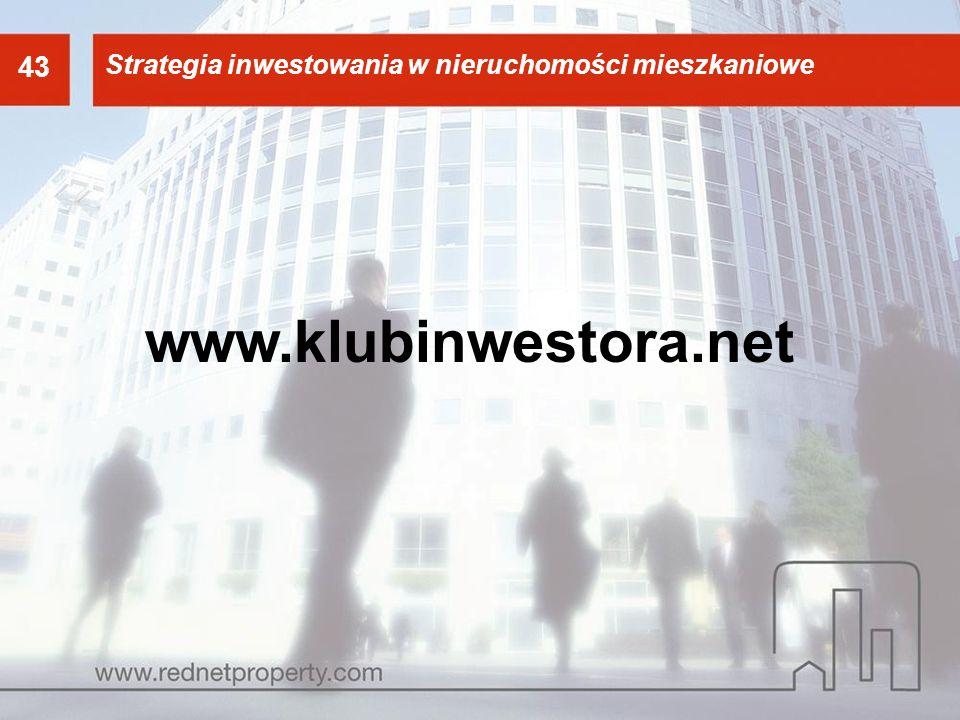 43 43. Strategia inwestowania w nieruchomości mieszkaniowe. Strategia inwestowania w nieruchomości mieszkaniowe.