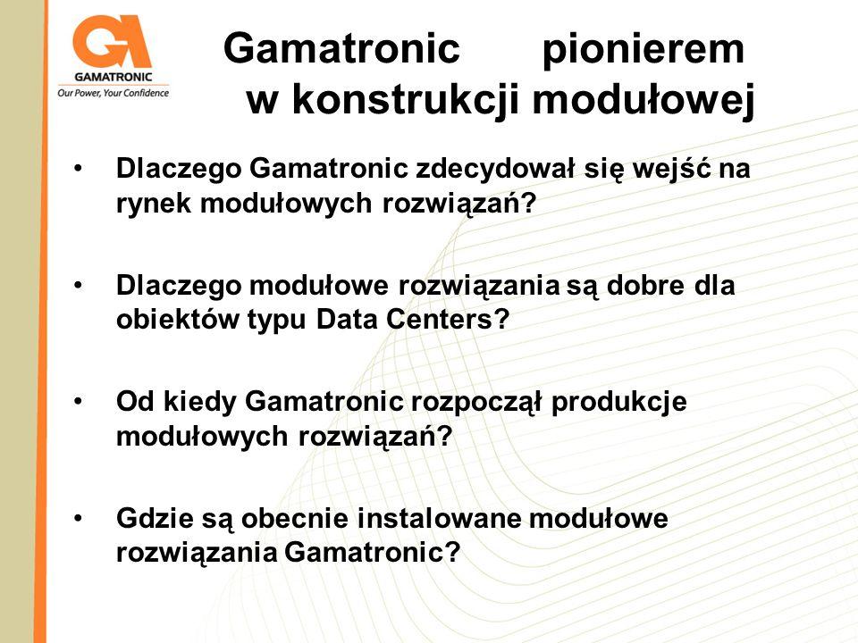 Gamatronic pionierem w konstrukcji modułowej
