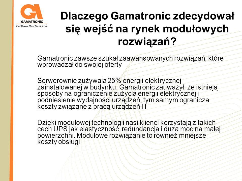 Dlaczego Gamatronic zdecydował się wejść na rynek modułowych rozwiązań
