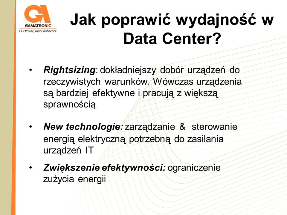 Jak poprawić wydajność w Data Center