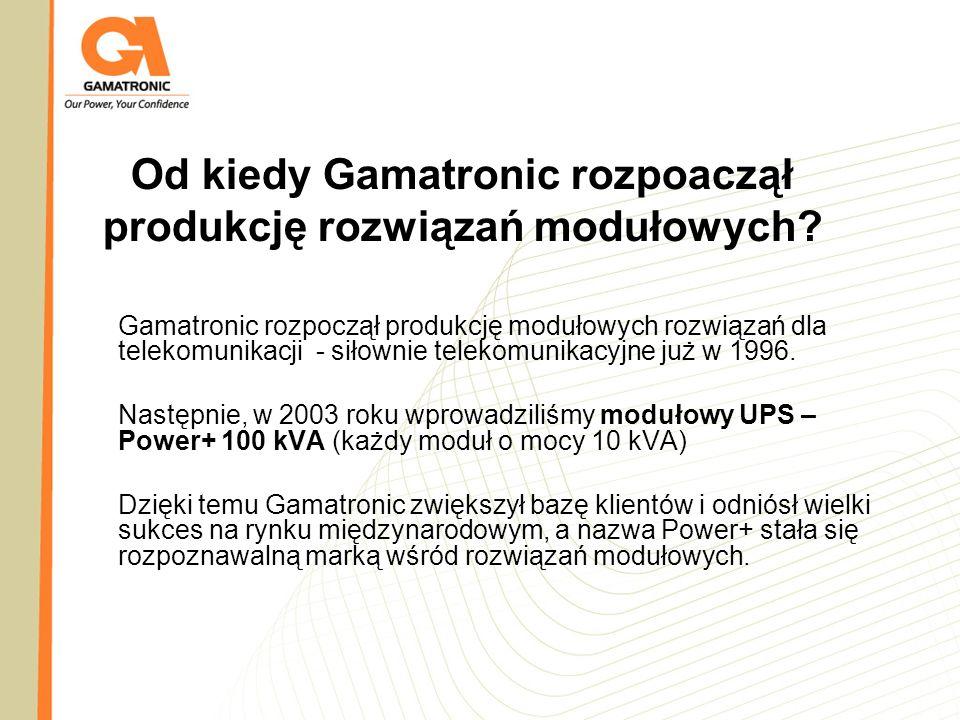 Od kiedy Gamatronic rozpoaczął produkcję rozwiązań modułowych
